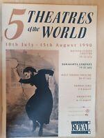 THEATRE ROYAL GLASGOW 5 THEATRES OF THE WORLD SURAKATA COMPANY 17-21 JULY 1990