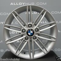 "GENUINE BMW 1 SERIES 207 M SPORT 17""INCH SILVER ALLOY WHEELS X4, E81,E82,E87,E88"