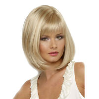 Women Lady Blonde Bob Short Straight Synthetic Full Hair Wig Party Cosplay US