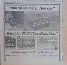 1963 newspaper ad for Rambler, Motor Trend Car of The Year, One up on other cars