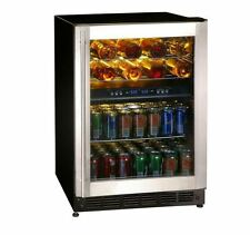 NEW Black Stainless Vt 16 Bottle 77 Can Duel Zone Wine Beverage Cooler