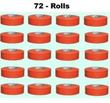 (72) Rolls 300' Orange Flagging Tape Highly Visible Polyethylene Marking Ribbon