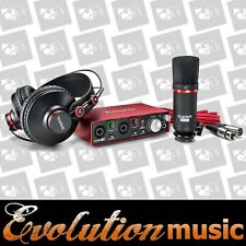 FOCUSRITE SCARLETT Solo 2i2 Studio Package includes software headphones and mic