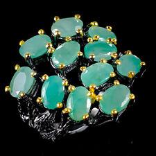 Vintage Natural Emerald 925 Sterling Silver Ring Size 8.5/R119327