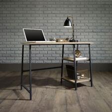 Industrial Style Retro Bench Computer Office Desk Black Metal Frame Sonoma Oak