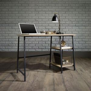 Computer Desk Office Black Industrial Style Retro Bench Metal Frame Sonoma Oak