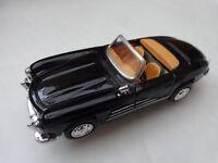 CORGI NEWRAY 1:43 - CLASSIC 1957 BLACK MERCEDES 300SL ROADSTER DIECAST MODEL CAR