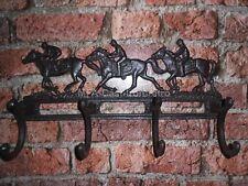Cast Iron Race Horse Coat Rack 4 Hooks