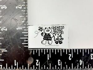 Stampin up Foam Mounted Rubber Stamp Cat Kindness begins with me