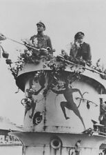 WWII photo Captain-Lieutenant Kriegsmarine Erich Topp on the cabin of U-552 /35y