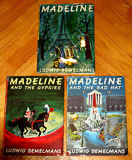 Lot 3 MADELINE Books Ludwig Bemelmans early printings with dustjackets