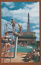 Tower Hotel Courts Swimming Pool View Dallas Texas tx chrome postcard