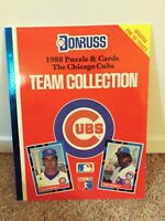1988 Donruss Chicago Cubs Baseball Team Collection Book puzzle & cards MLB