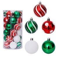 30 teiliges Set Weihnachtskugeln Spitze Christbaumkugel viele Farben (Fass)