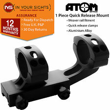 1 piece Weaver rail cantilever rifle scope mount. Suits 30mm scope rings