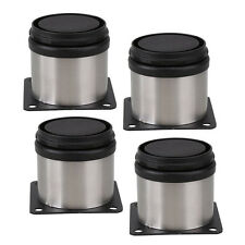 4pc Adjustable Furniture Sofa Legs Plinth Stainless Steel Feet Round Stand