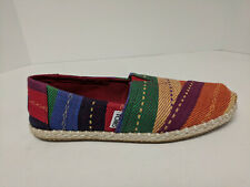 Toms Classic Slip-On Shoes, Rainbow Multi, Womens 7 M