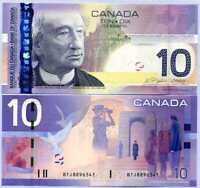 Canada 10 Dollars 2005/2007 P 102 UNC