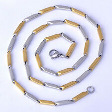 Vintage Mens Gold Plated Square Chain Statement 22'' long Necklace Jewellery
