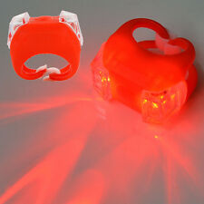 Red Bike Bicycle Cycling Frog LED Silicone Tail Light Safety Warning Lamp
