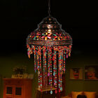 Vintage Tiffany Style Pattern Stained Glass Chandelier Lamp Shade Hanging Light