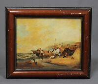19th Century Oil Painting Near Lowestoft 1852 Style William Shayer Signed