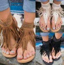 Tasselled Flat Sandals for Women