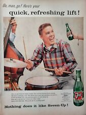 Lot of 3 Vintage 1957 7UP Ads Quick Refreshing Lift