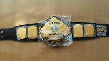 More details for wwe/wwf classic gold winged eagle championship belt brass plated gold belt