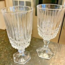 Fostoria Heritage crystal clear Tea Goblets & Water Goblets