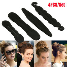 4x Magic Hair Styling Donut Former Foam Twist Sponge DIY Tool Bun Ponytail Maker