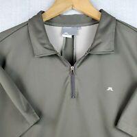 J. Lindberg XL Mens Golf Casual Polo Shirt Slim Fit Short Sleeve Green  EUC
