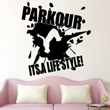 Parkour Wall Sticker Extreme Sports Decal Boys Decoration Removable Art Mural