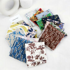 Women Cotton Linen Print Kerchief Small Scarf Neck Wear Headband Bag Decoration