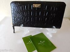 New Kate Spade Neda Rialto Place Croco Embossed Leather Clutch, Wallet