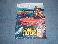 "1987 Camel Filters Cigarettes Vintage River Rafting Ad ""Share a New Adventure"""
