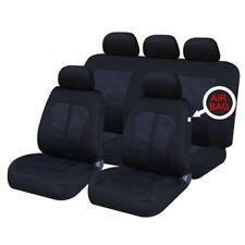SEAT Leon (05-09) Frente Y Parte Trasera Set completo de fundas de asiento de coche Paño Negro
