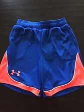 NWT Blue and Orange Youth Under Armour Girls Shorts