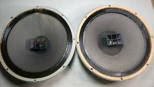 """Pair of Altec Lansing 602-D 602D 15"""" Duplex Speakers - Clean - One tweeter blown"""