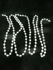 "Vintage 1/2"" Silver Disco Ball Christmas Tree Garland - 108"" Long"