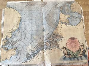ANTIQUE MAP SEA CHART NORFOLK KENT  SUFFOLK HOLLAND C1693 BY COLLINS EARLY MAP