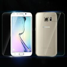 Premium Tempered Glass Film Screen Protector Front + Back For Samsung Galaxy S6
