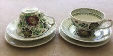 Masonsware Ironstone Large Breakfast Sets - 2 (Green Paynsley Design) Vintage
