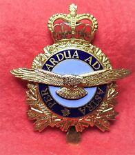 Canada R.C.A.F. Royal Canadian Air Force enameled metal cap badge Post 1953