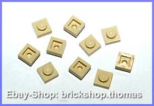 Lego 10 x Platte (1 x 1) - 3024 beige Platten - Plates Tan - NEU / NEW