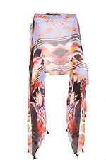 Fashionable Women Colourful Geometrical Pattern Light Scarf w Tassels (S357)
