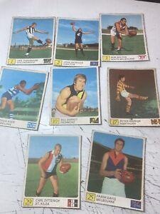 7 X Rare 1970 Kellogg's VFL Football Cards