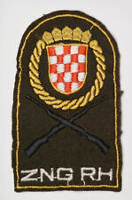 CROATIA  ARMY - ZNG National Guard - 1991 embroidered sleeve patch RARE TYPE