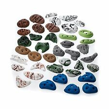 Greatest Chips Screw On Set Rock Climbing Wall Foot Hold Assorted 40-pc
