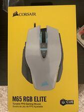 Corsair M65 RGB Elite Tunable FPS Gaming Mouse - White